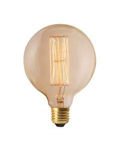 Globe G125 filament métallique droit 24W E27 Blanc doux dimmable