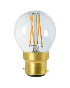 Sphérique G45 filament LED 5W B22 Blanc chaud Dimmable