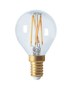 Sphérique G45 filament LED 5W -E12- 2700K 520Lm