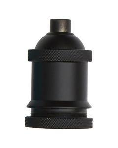 Douille E27 aluminium  Ø50mm avec bague - Noir mat