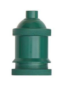 Douille E27 aluminium  Ø50mm avec bague - vert bouteille mat