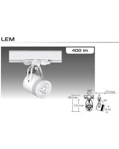 ARIC - Spot LED 4.8W 4000k Adaptateur rail