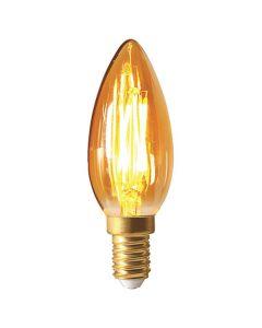 Ampoule Flamme filament LED 5W E14 2200K 420Lm dimmable Ambrée