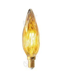 Flamme GS8 Filament LED 4W E14 Blanc chaud 280lm Dimmable Ambrée