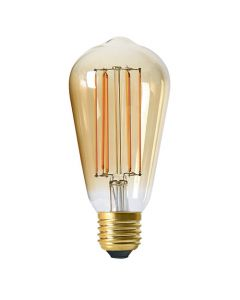 Ampoule Edison filament LED 6W E27 Blanc chaud 390Lm dimmable Ambrée