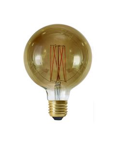Ampoule Globe G125 filament LED 4W E27 Blanc chaud dimmable Smokey