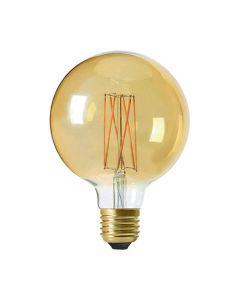 Globe G125 filament LED 6W E27 2100K 390Lm dim Ambrée