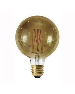 Globe G125 filament LED 6W E27 Blanc Doux300Lm Dimmable Smockey