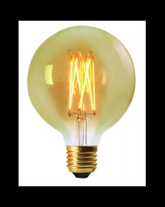 Ampoule Globe G125 Filament LED 2W E27 Blanc doux Ambrée