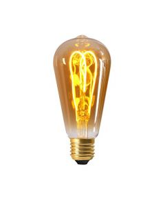 Ampoule Edison Filament LED LOOPS 5W E27 Blanc doux Ambrée
