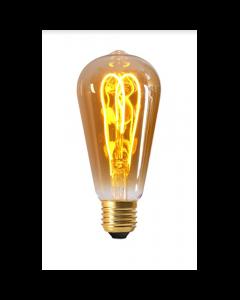 Ampoule Edison Filament LED LOOPS 4W E27 2000K 200Lm Dim. Ambrée