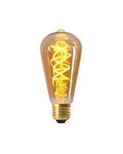 Ampoule Edison Filament LED TWISTED 5W E27 2000K 260Lm Ambré