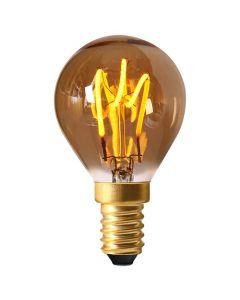 Sphérique G45 Filament LED LOOPS 2W E14 2000K 90Lm Ambré