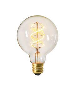 Globe G95 Filament LED Torsadé 5W E27 2200K 300Lm