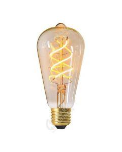 Ampoule Edison Filament LED Torsadé 5W E27 Blanc chaud doux 300Lm