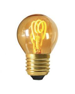 Ampoule Sphérique Filament LED LOOPS 2W E27 2000K 90Lm Ambrée