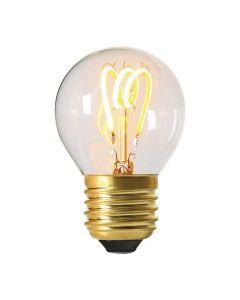 Ampoule Sphérique Filament LED LOOPS 2W E27 Blanc chaud Claire