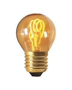 Ampoule Sphérique filament LED 3 loops 3W E27 2000K 100Lm dim Ambrée