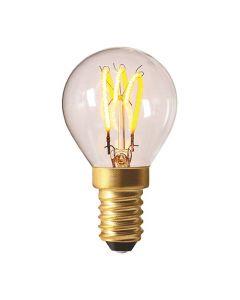 Sphérique G45 filament LED 3 loops 3W E14 Blanc doux