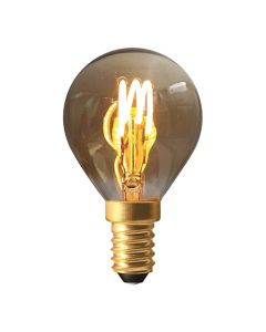 Sphérique G45 filament LED 3 loops 3W E14 2000K 90Lm dim Smokey