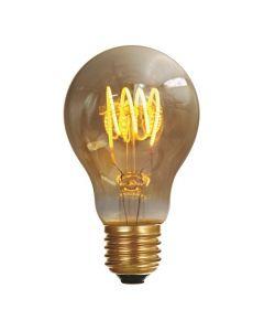 Ampoule Standard A60 filament LED 4 loops 5W E27 2000K 250Lm Ambrée