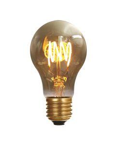 Ampoule Standard filament LED 4 loops 4W E27 Blanc doux  Smokey
