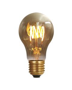 Ampoule Standard A60 filament LED 4 loops 5W E27 Blanc doux Smokey