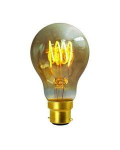 Ampoule Standard filament LED 4 loops 4W B22 Blanc douxAmbrée