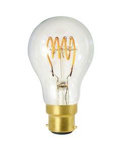Ampoule Standard A60 filament LED 4 loops 4W B22 2200K 220Lm dim