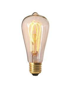 Ampoule Edison filament LED loops 4W E27 2200K 240Lm dimmable