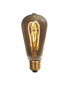 Ampoule Edison filament LED loops 5W E27 2000K 220Lm Smokey