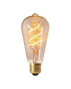 """Ampoule """"Edison"""" filament LED torsadé 4W E27 2200K 240Lm dim Claire"""