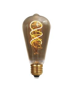 Ampoule Edison filament LED TWISTED 4W E27 Blanc doux  Smokey