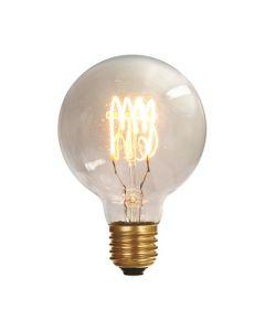 Ampoule Globe G80 filament LED torsadé 4W E27 Blanc doux Dimmable