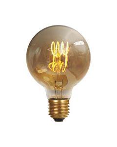 Ampoule Globe G80 filament LED torsadé 4W E27 Blanc Doux  Ambrée