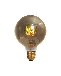 Ampoule Globe G80 filament LED torsadé 4W E27 Blanc doux Smokey