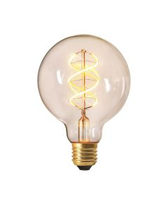 Globe G95 filament LED twisted 4W E27 Blanc doux Claire