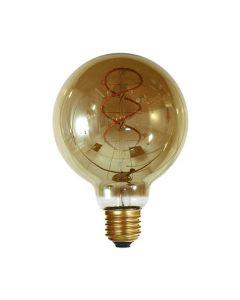 Globe G95 filament LED torsadé 4W E27 Blanc Doux Smokey