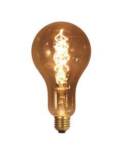 Ampoule géante filament LED twisted 180mm 4W E27 Blanc doux Smokey