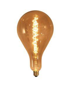 Ampoule géante filament LED twisted 290mm 6W E27 2000K 240Lm Smokey