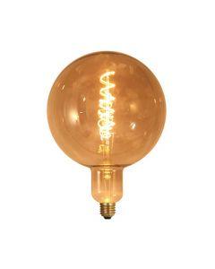 Globe Géant Ø200 filament LED spirale 6W E27 Blanc Doux 240Lm Smokey