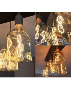 """Ampoule """"Bouteille"""" Filament LED 4W E27 Ambré"""