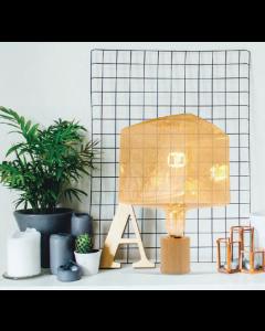 """Fabrice Peltier- Ampoule géante """"Cube""""  filament LED 4W E27 Dimmable  Ambrée"""