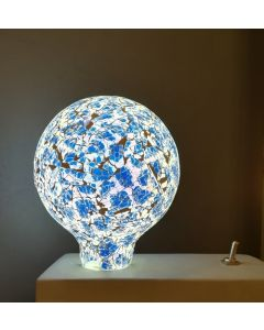 Ampoule Globe Mosaique Bleue LED 4W Dimmable