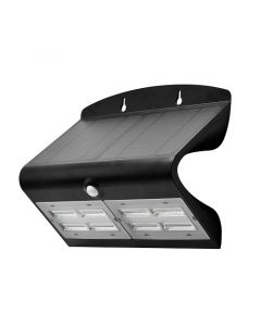 Projecteur Solaire avec détecteur de présence 800 lumens- Noir