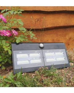 Projecteur Solaire avec détecteur de présence 800 lumens - Noir