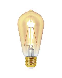 Ampoule Edison Filament LED 4W E27 Blanc chaud Ambrée