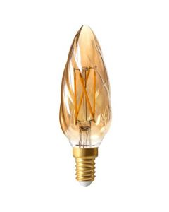 Flamme F6 Filament LED 4W E14 2500K 280Lm Dimmable Ambrée