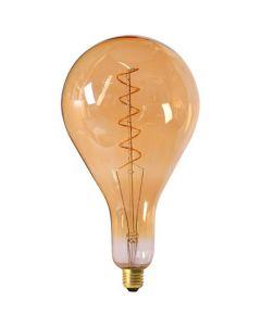 Ampoule Géante Filament LED spirale 290mm 6W E27 Blanc Doux Ambrée