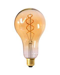 Ampoule Géante Filament LED TWISTED 200mm 4W E27 Blanc doux Dimmable Ambré